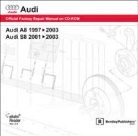 car repair manuals online free 2004 audi a8 electronic valve timing audi a8 1997 2003 s8 2001 2003 repair manual on dvd