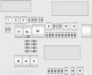 Cadillac Ats  2012  U2013 2013   U2013 Fuse Box Diagram