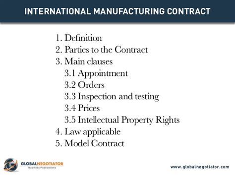international manufacturing contract contract template
