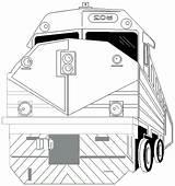 Train Coloring Coloriage Tunnels Template Trens Desenhos Colorir sketch template