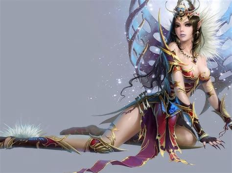fantasy elf crowv female abstract hd wallpaper