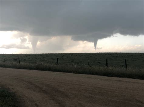 Colorado Weather Twin Tornadoes Touch Down Yuma County