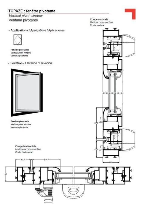 pivoting window vertical detail   window detail windows architecture details