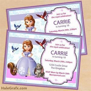 free printable sofia the first birthday invitation pack With sofia the first free invitation templates