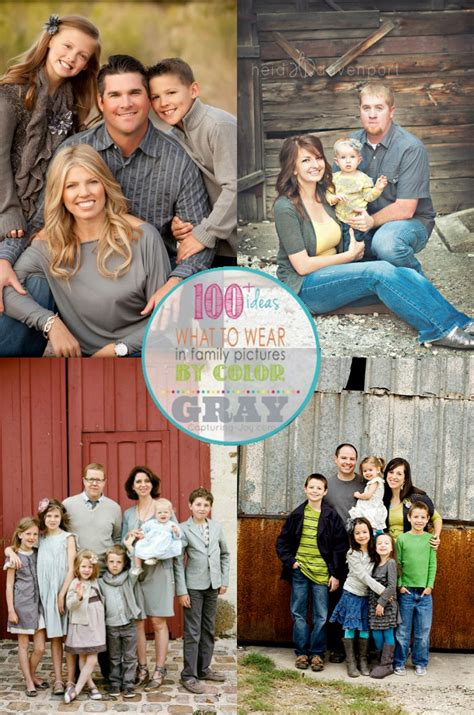 family picture clothes by color gray capturing with