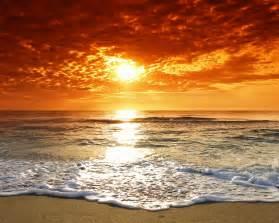 Beauty Orange Beach Wallpaper : Wallpapers13.com