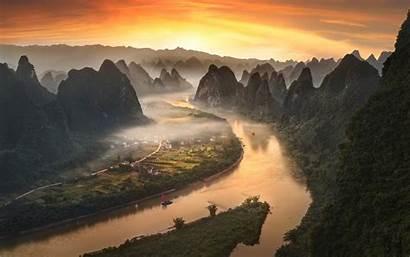 China Li River Yangshuo Landscape Desktop Laptop