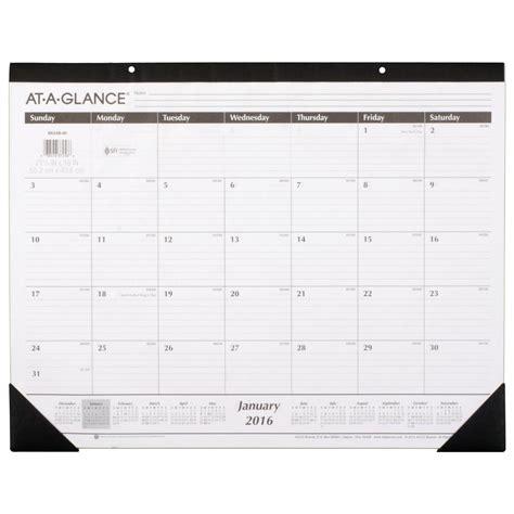 large desk calendar at a glance monthly desk pad calendar 2016