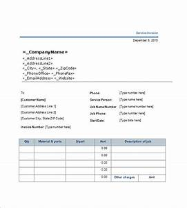 service invoice templates 11 free word excel pdf With invoice download word