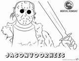 Coloring Mortal Kombat Jason Voorhees Printable Adults Bettercoloring sketch template