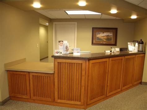 photos of dental office front desk areas
