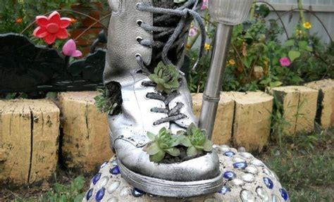 diy home garden decor idea   shoe planter  succulents