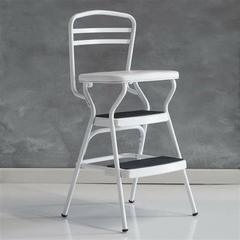 chair with step stool cosco white retro counter chair step stool with lift up
