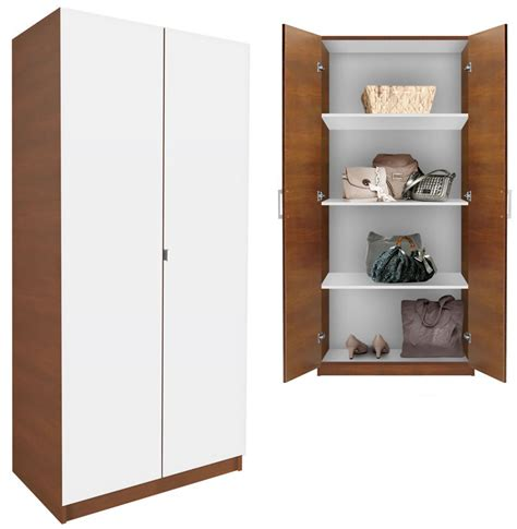 White Wardrobe Cabinet by Alta Wardrobe Cabinet 3 Shelves Doors Contempo