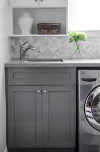 herringbone kitchen backsplash herringbone backsplash transitional laundry room well nested interiors