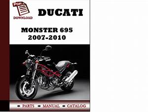 Ducati Monster 695 Parts Manual  Catalogue  2007 2008 2009 2010 Pdf Download   English German
