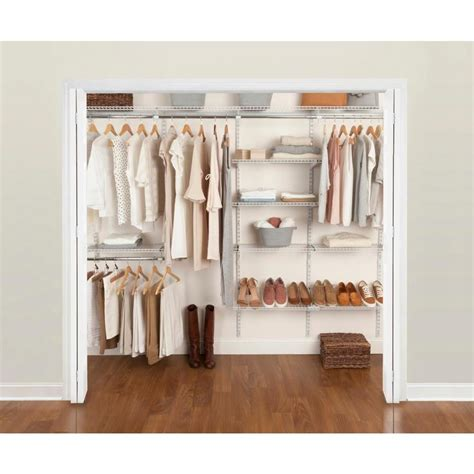 Rubber Made Closet Organizers by Rubbermaid Fasttrack 6 Ft To 10 Ft X 12 In White Wire
