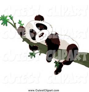 Cute Sleeping Panda Clip Art