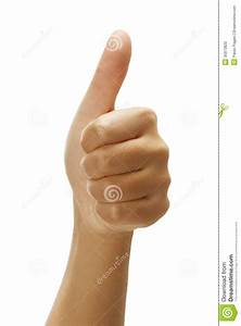Female Hand With Thumbs Up Positive Gesture Stock Photo ...