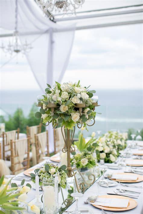 latitude villa white green elegant garden wedding