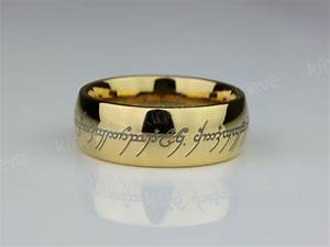 lord of the rings lotr tungsten carbide one ring wedding With lord of the rings one ring wedding band