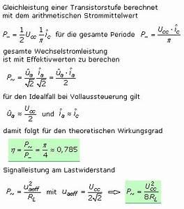 Amplitude Berechnen : class b gegentaktverst rker mit transistoren ~ Themetempest.com Abrechnung