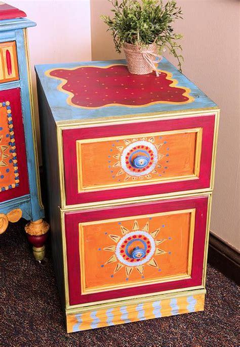 boho inspired file cabinet project  decoart