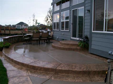 amazing concrete patio by j s custom concrete patios