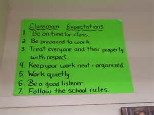 Middle School Classroom Rules