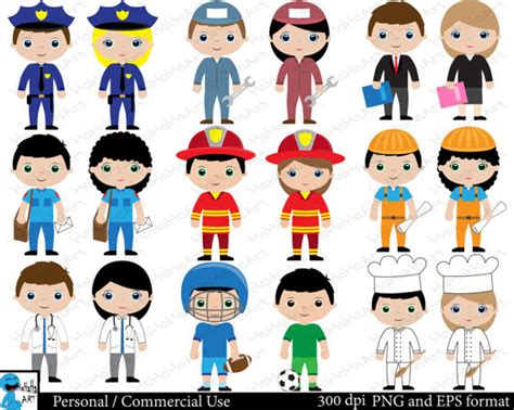 12202 different professions clipart professions set clipart digital clip graphics personal