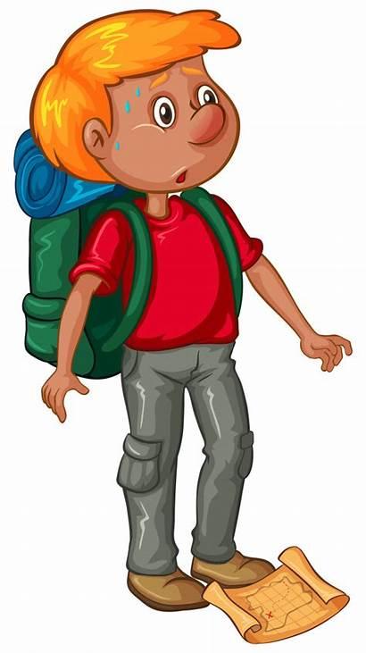 Wanderer Clipart Rucksack Gratis Masculino Excursionista Mochila