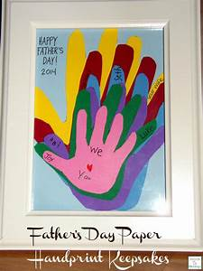 Paper Handprints Keepsake Father's Day Gift
