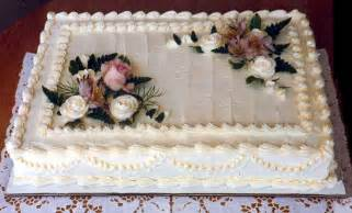 wedding sheet cakes decorated with flowers and decor wedding ido - Sheet Wedding Cakes