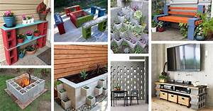Outdoor Kitchen Ideas With Cinder Blocks  U2013 Wires  U0026 Decors