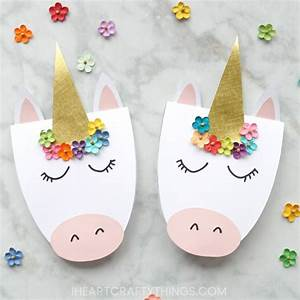 How to Make a Simple DIY Unicorn Card I Heart Crafty Things