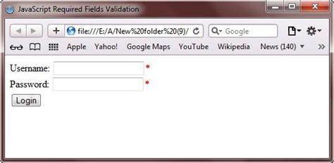 Javascript Form Validation Script by Javascript Form Validation