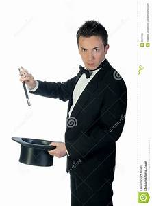 Magician With Wand And Hat Royalty Free Stock Photo ...