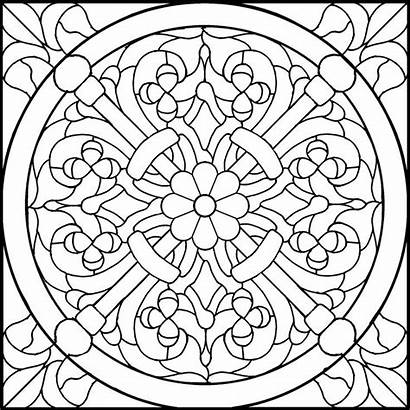 Stained Glass Patterns Coloring Pages Designs