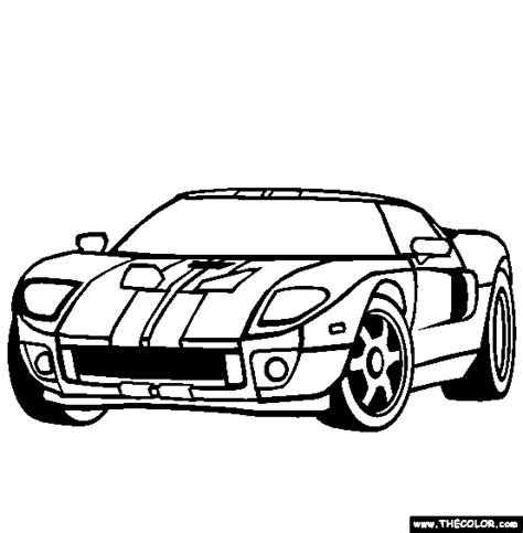 Gtr Kleurplaat by Ford Gt Coloring Page Free Ford Gt Colori