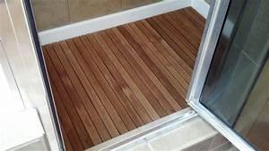 Teak Wood Shower Floor With Cool Teak Shower Floor