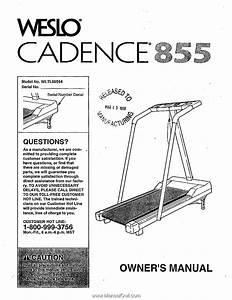 Weslo Cadence 855 Treadmill