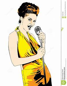 Lady Singer; Vector Stock Vector - Image: 43664488