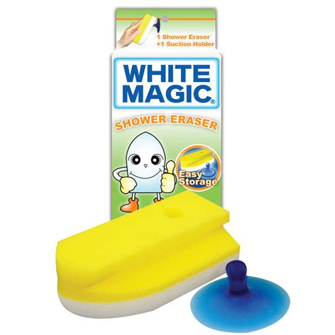 new white magic shower eraser cleaning sponge with suction