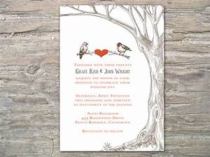 Rustic tree and birds invitation printable diy for for Free printable tree wedding invitations