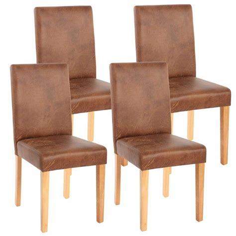 chaise cuir marron lot de 4 chaises de salle à manger simili cuir marron