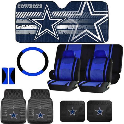 dallas cowboys seat covers and floor mats 14pc nfl dallas cowboys mats sun shade blue black seat