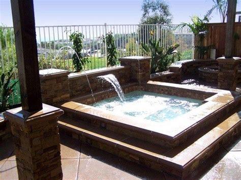 Garten Pool Whirlpool by Whirlpool Garten Einbauen Wasserfall Springbrunnen
