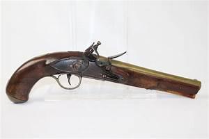 Circa 1800 Antique KETLAND BRASS FLINTLOCK Pistol Full ...