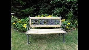 Banc De Jardin Bois : r nover un banc de jardin en bois youtube ~ Dode.kayakingforconservation.com Idées de Décoration