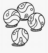 Marble Marbles Clipart Coloring Ball Colouring Template sketch template